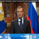 Russisches TV Medvedev
